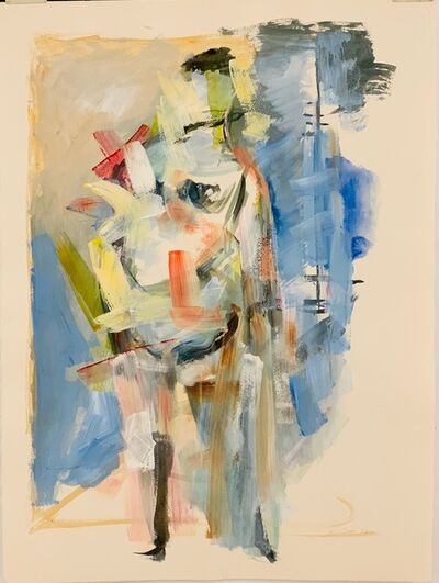Walter Quirt, 'Untitled (Standing Figure in Pastels)', 1964