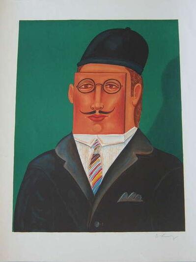 Benjamin West, 'Surrealist Square Man Portrait', 1970-1979