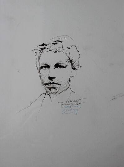 Ernest Pignon-Ernest, 'Regards, Rimbaud, Etude n° 11', 1986