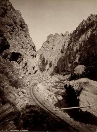 William Henry Jackson, 'Platte Canon Above Deansbury '