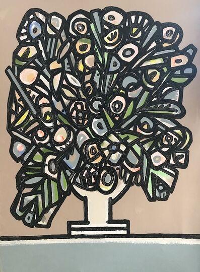 America Martin, 'Daisies, Peonies and Larkspur', 2018