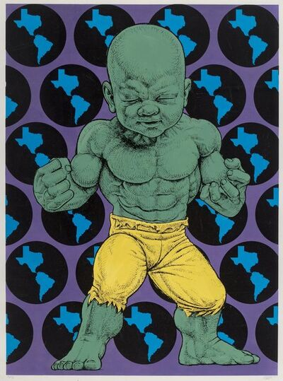 Ron English, 'Texas Temper Tot (Green and Yellow)', 2016