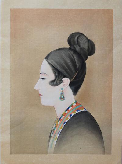 Chiura Obata, 'Before Singing: Madame Talia Savanieva from the World Landscape Series', 1930