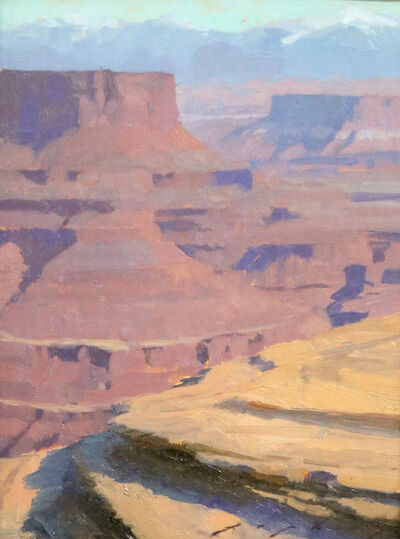 "Jeremy Lipking, '""Red Canyon Erosion""'"