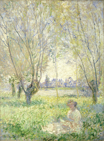 Claude Monet, 'Woman Seated under the Willows', 1880