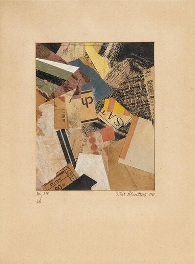 Kurt Schwitters, 'Merz 318. ch.', 1921