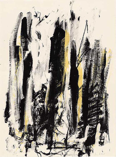 Joan Mitchell, 'Arbres (Black and Yellow)', 1991-1992