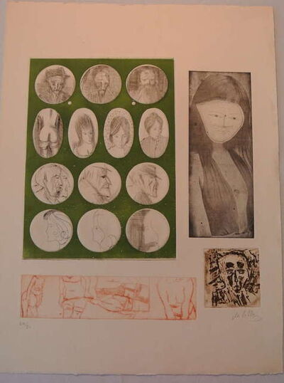 Zwy Milshtein, 'Etching and Aquatint with Embossing', 20th Century