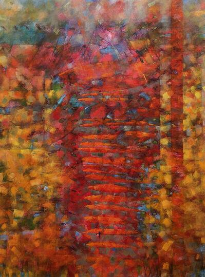 David Adams, 'Boats of Rose as Fog Lifted', 2016
