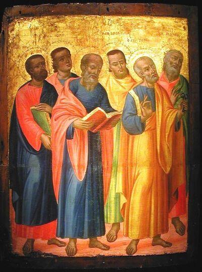 Greek, 'The Six Apostles', ca. 1630