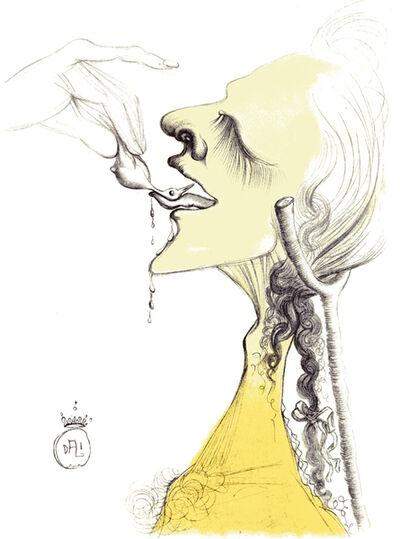 Salvador Dalí, 'Un Ambigu Stimulant - Bird On Tongue', 1967
