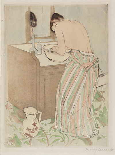 Mary Cassatt, 'Woman Bathing', 1890/1891