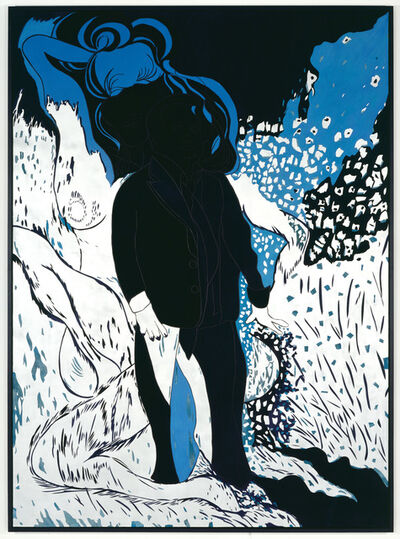 Chris Ofili, 'Saint Lucian Blue Two', 2006