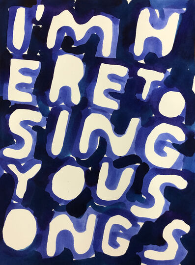 Stefan Marx, 'I'm Here to Sing You Songs', 2018