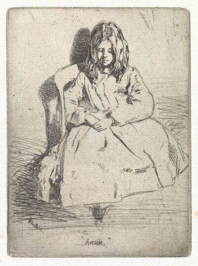 James A. M. Whistler, 'Annie, Seated', 1858-59