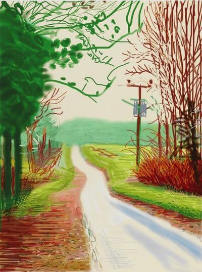 David Hockney, 'The Arrival of Spring in Woldgate, East Yorkshire in 2011 (twenty eleven) - 23 Feburary 2011', 2011
