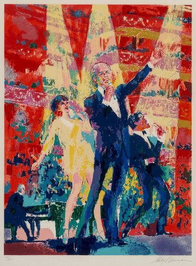 LeRoy Neiman, 'Frank, Liza and Sammy at Royal Albert Hall', 1990