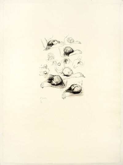 Henry Moore, 'Lullaby Sketches', 1973