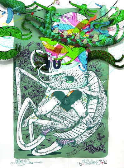 Alëxone Dizac, 'Quadricolor', 2014