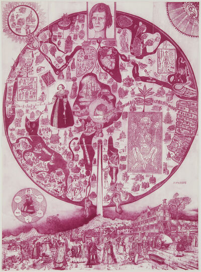 Grayson Perry, 'Map of Nowhere (purple)', 2008