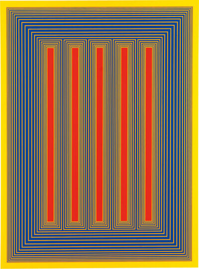 Richard Anuszkiewicz, 'Temple of Red with Yellow', 1983
