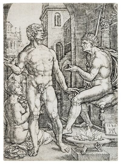 Heinrich Aldegrever, 'Mucius Scaevola before Porsenna'