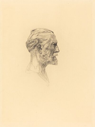 """Auguste Rodin, '""""Antonin Proust"""" (2 impressions, one of the sixth state and one of the seventh), in Auguste Rodin statuaire.', 1885"""
