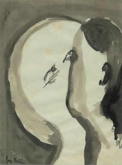 Joy Hester, '(Lovers Series)', c 1949