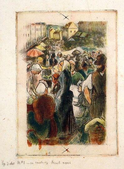 Camille Pissarro, 'Marche de Gisors (Rue Cappeville); definitive state', 1894