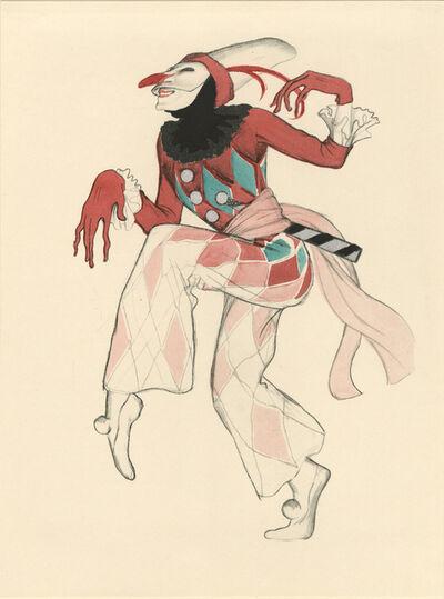 """Walter Schnackenberg, '""""Harlekin"""", Ballet und Pantomime (plate 10)', 1920"""