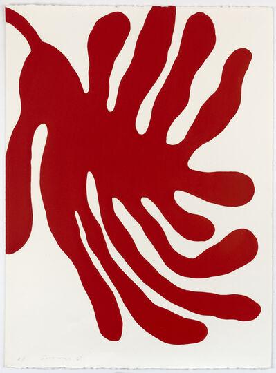 William Turnbull, 'Leaves, Red', 1967