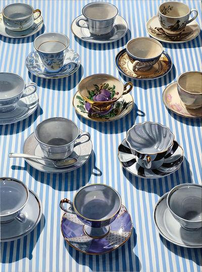 Sherrie Wolf, 'Pinstripe Teacups', 2019