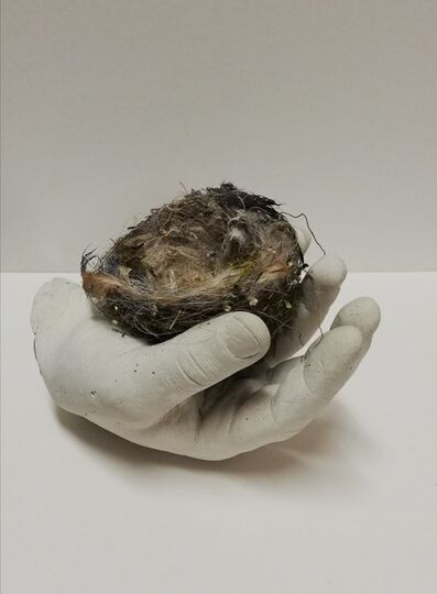 Francesco Minuti, 'Sculpture of hand with nest: 'The Waiting'', 2020