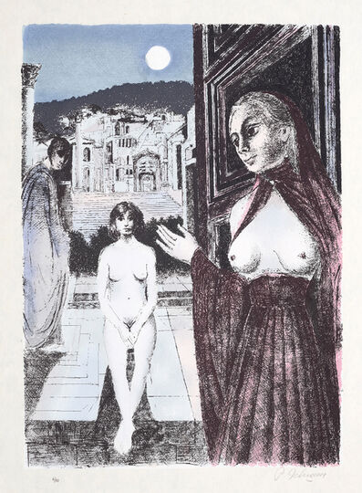 Paul Delvaux, 'La Reine de Saba (The Queen of Sheba)', 1982