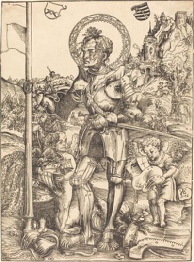 Lucas Cranach the Elder, 'Saint George Standing, with Two Angels', 1506