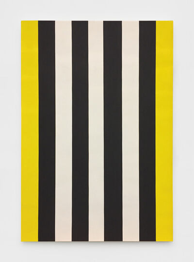 Mary Corse, 'Untitled (Yellow, Black, White Beveled)', 2014