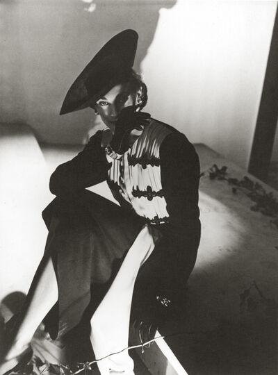 Horst P. Horst, 'Mademoiselle Zelinsky Modeling a Lucien Lelong Dress for French Vogue', 1937