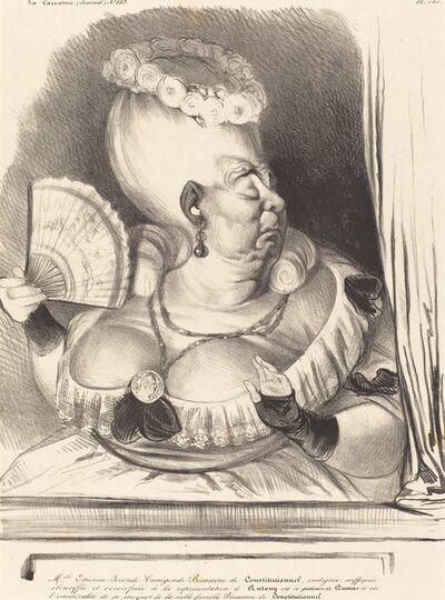 Honoré Daumier, 'Mlle. Etienne-Goconde-Cunégonde-Bécassine', 1834