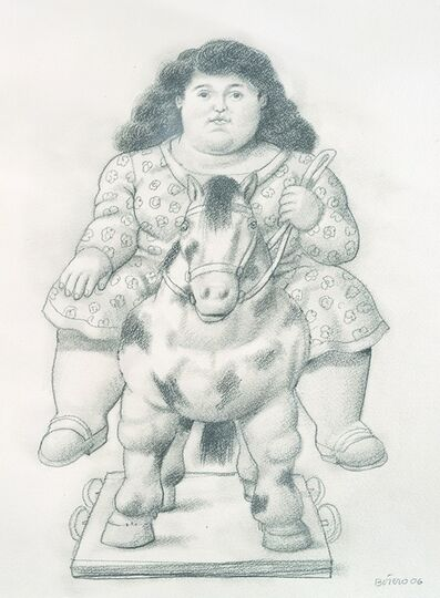 Fernando Botero, 'Girl on a Toy Horse', 2006