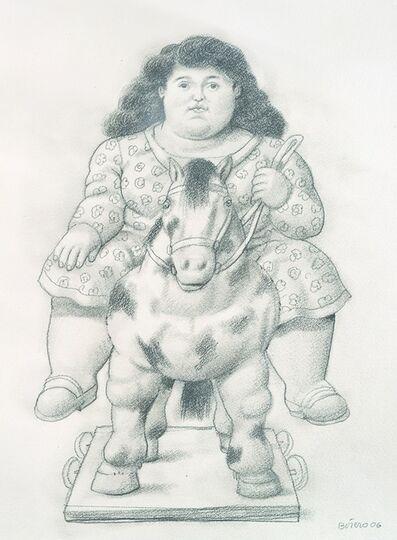 Fernando Botero, 'Girl on a Toy Horse', 2006