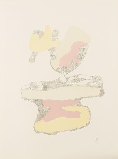 Hans Fischli, 'Spuren auf weissem Grund 3', 1973