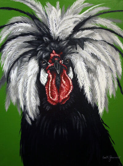 Eric N. Fausnacht, 'White Crested Black Polish Rooster', 2017