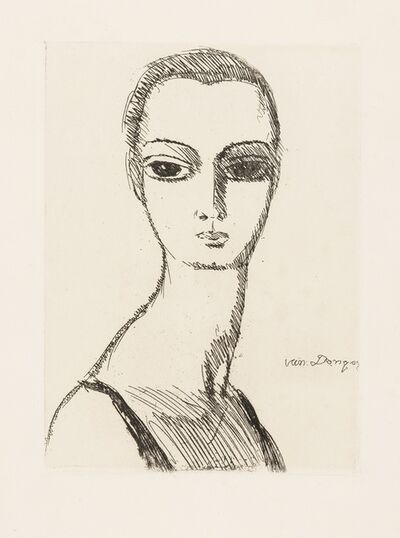Kees van Dongen, 'Girl With Swan's Neck (Juffermans 3)', circa 1925