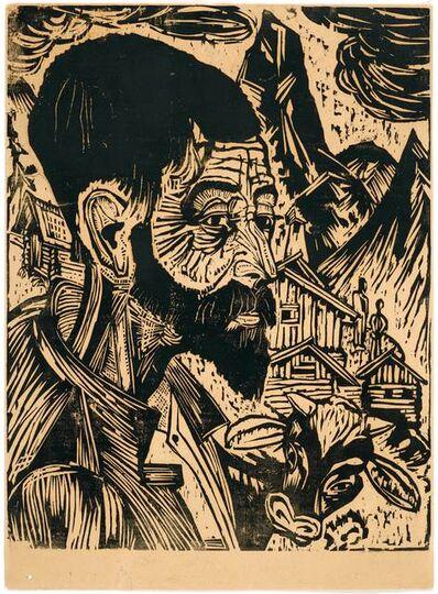 Ernst Ludwig Kirchner, 'Sennkopf (Martin Schmid)', 1917