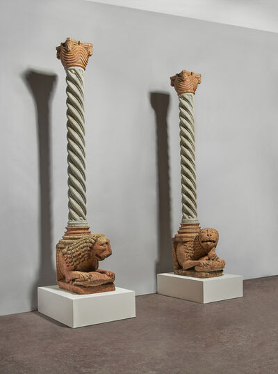 Unknown, 'A pair of monumental lions', 1210-1220