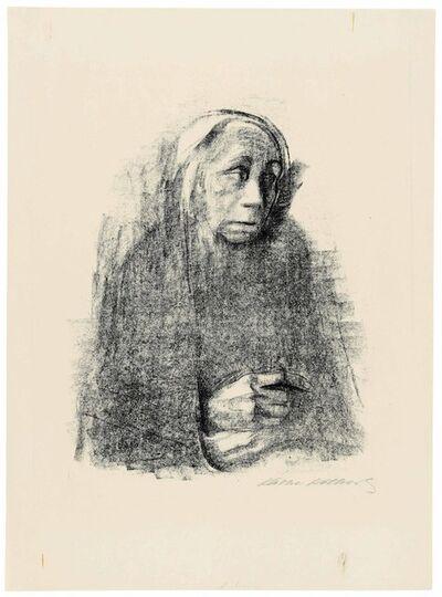 Käthe Kollwitz, 'Sitzende Frau mit Umschlagtuch (Seated Woman with Shawl)', circa 1924