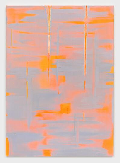 Wanda Koop, 'Reflect (Luminous Orange Yellow, Soft Grey Blue)', 2018