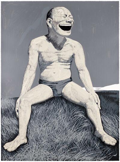 Yue Minjun, 'The Grassland Series Screenprint 4 (Man Sitting on Mound)', 2008