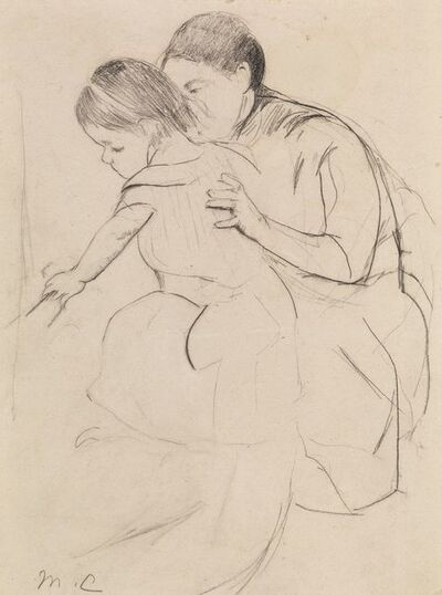 Mary Cassatt, 'Baby with Left Hand Touching a Tub', ca. 1890