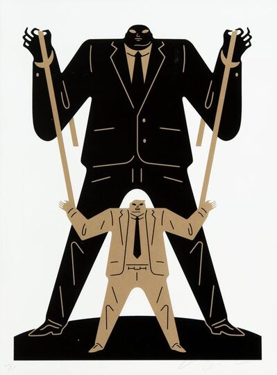 Cleon Peterson, 'Little Big Man Putin/Trump (Gold)', 2018